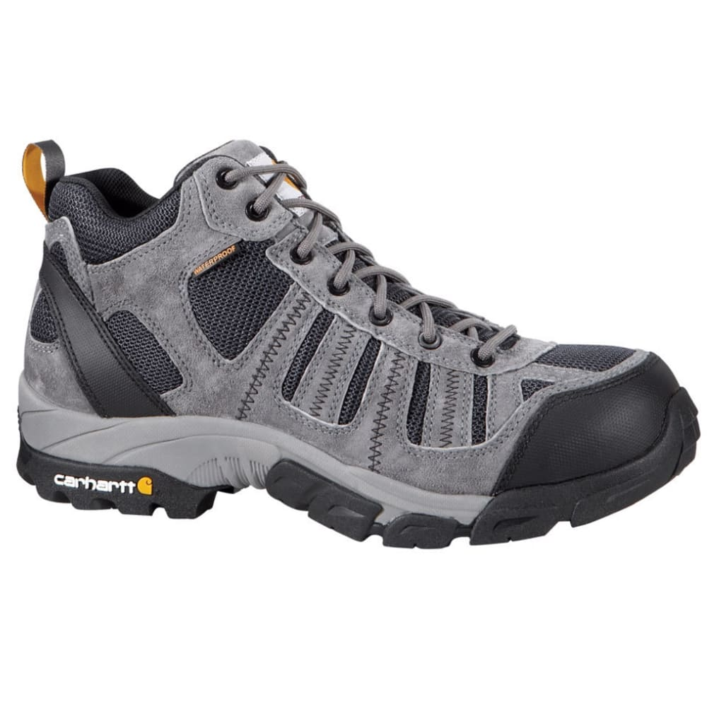 CARHARTT Men's Lightweight Hiker Work Boots, Grey - GREY SUEDE/NAVY