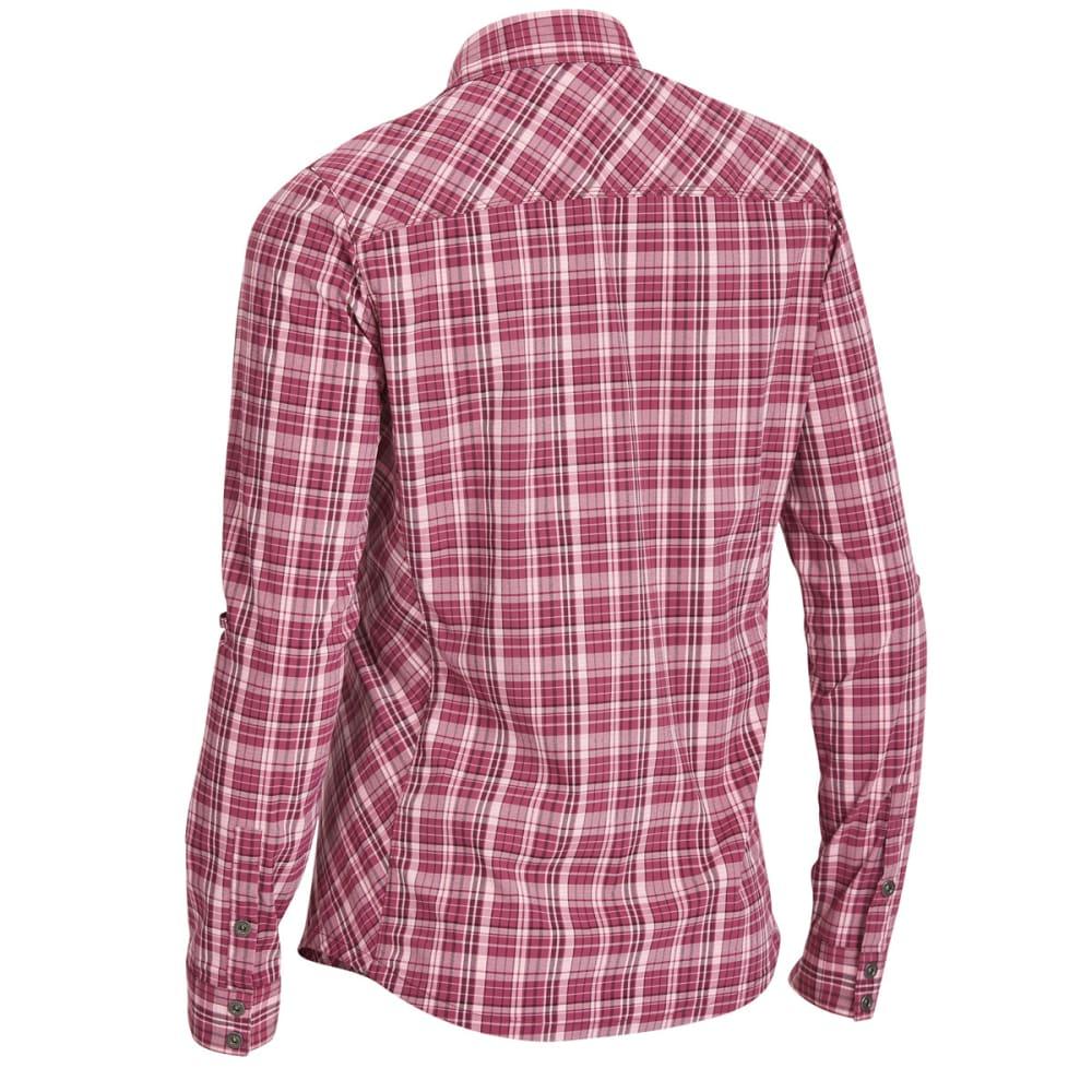 EMS Women's Journey Plaid Long-Sleeve Shirt - AMARANTH