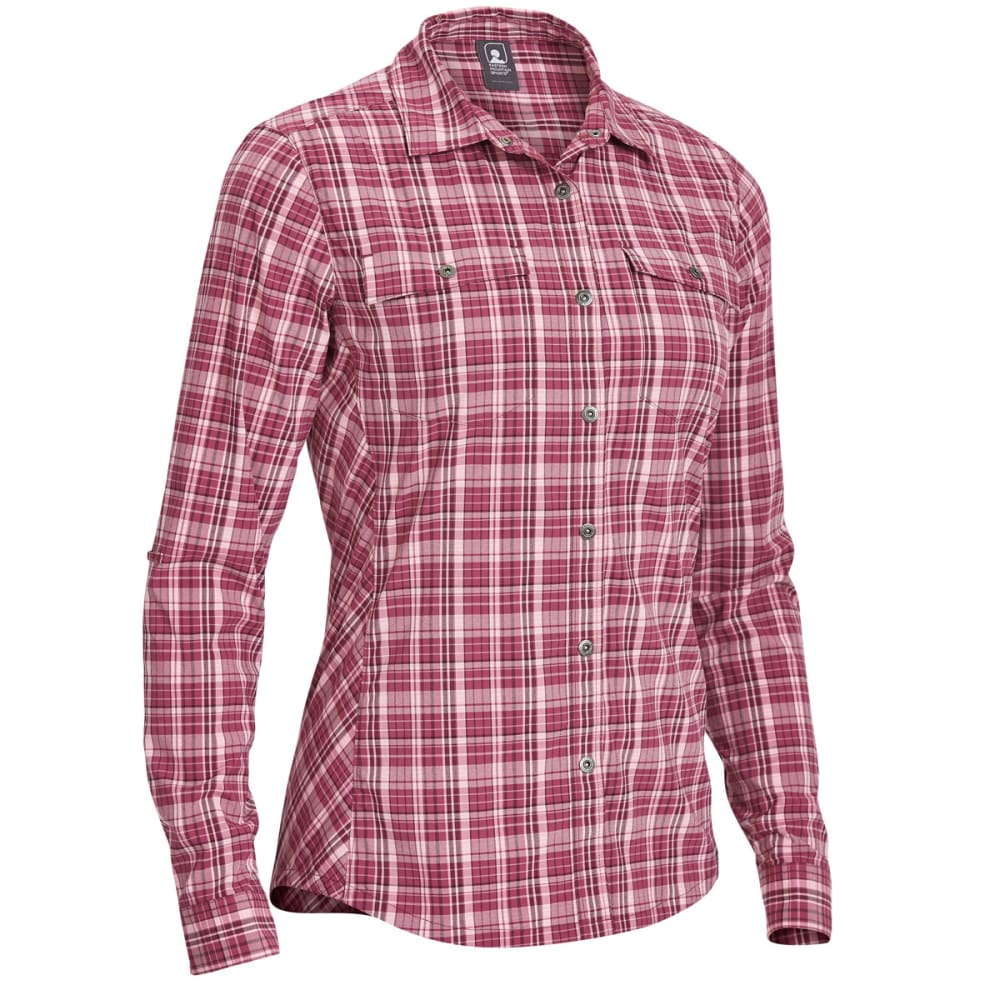 EMS Women's Journey Plaid Long-Sleeve Shirt XS