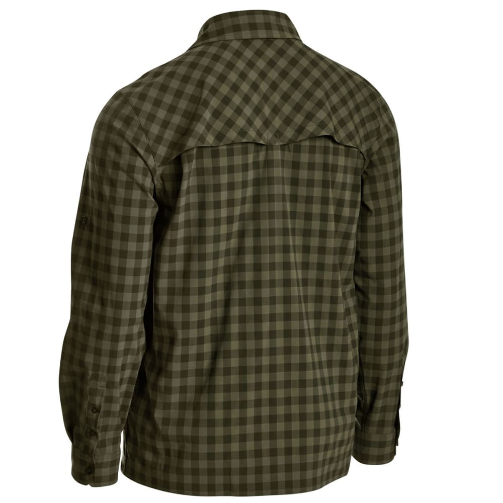 EMS Men's Journey Plaid Long-Sleeve Shirt - FOREST NIGHT