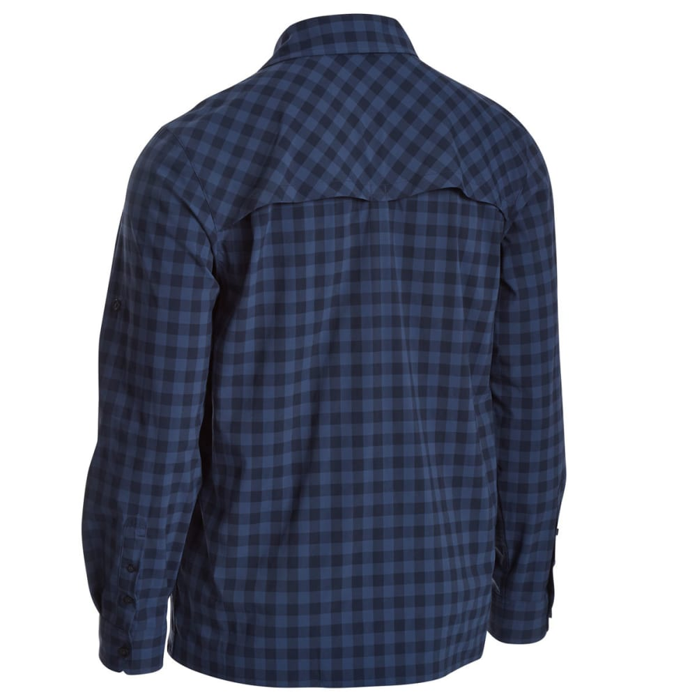 EMS Men's Journey Plaid Long-Sleeve Shirt - NAVY BLAZER