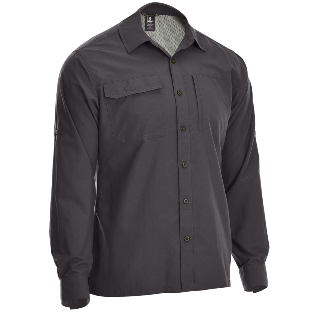 EMS Men's Trailhead UPF Long-Sleeve Shirt - FORGED IRON