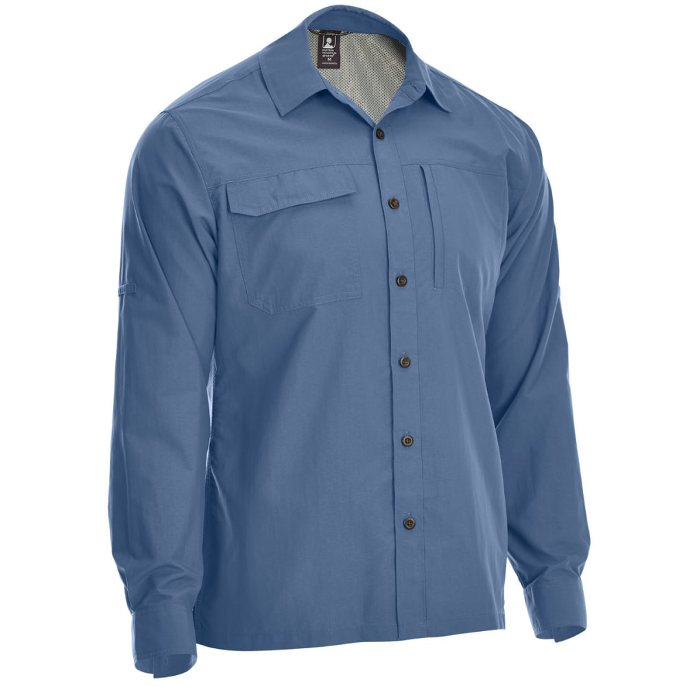 EMS Men's Trailhead UPF Long-Sleeve Shirt - VINTAGE INDIGO