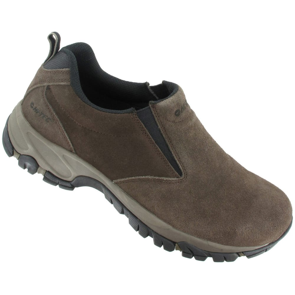 HI-TEC Men's Altitude Moc Suede Casual Shoes, Chocolate, Wide - DK CHOCOLATE