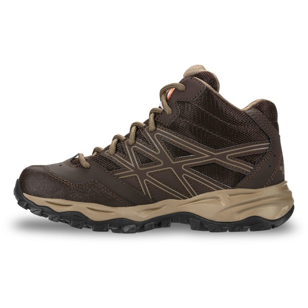 THE NORTH FACE Boys' Jr Hedgehog Hiker Mid Waterproof Hiking Boots - BROWN
