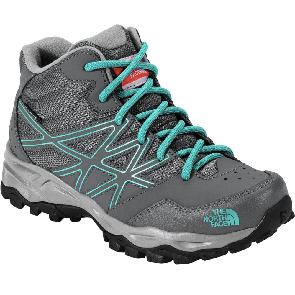 THE NORTH FACE Kids' Jr Hedgehog Hiker Mid Waterproof Hiking Boots - ZINC GREY