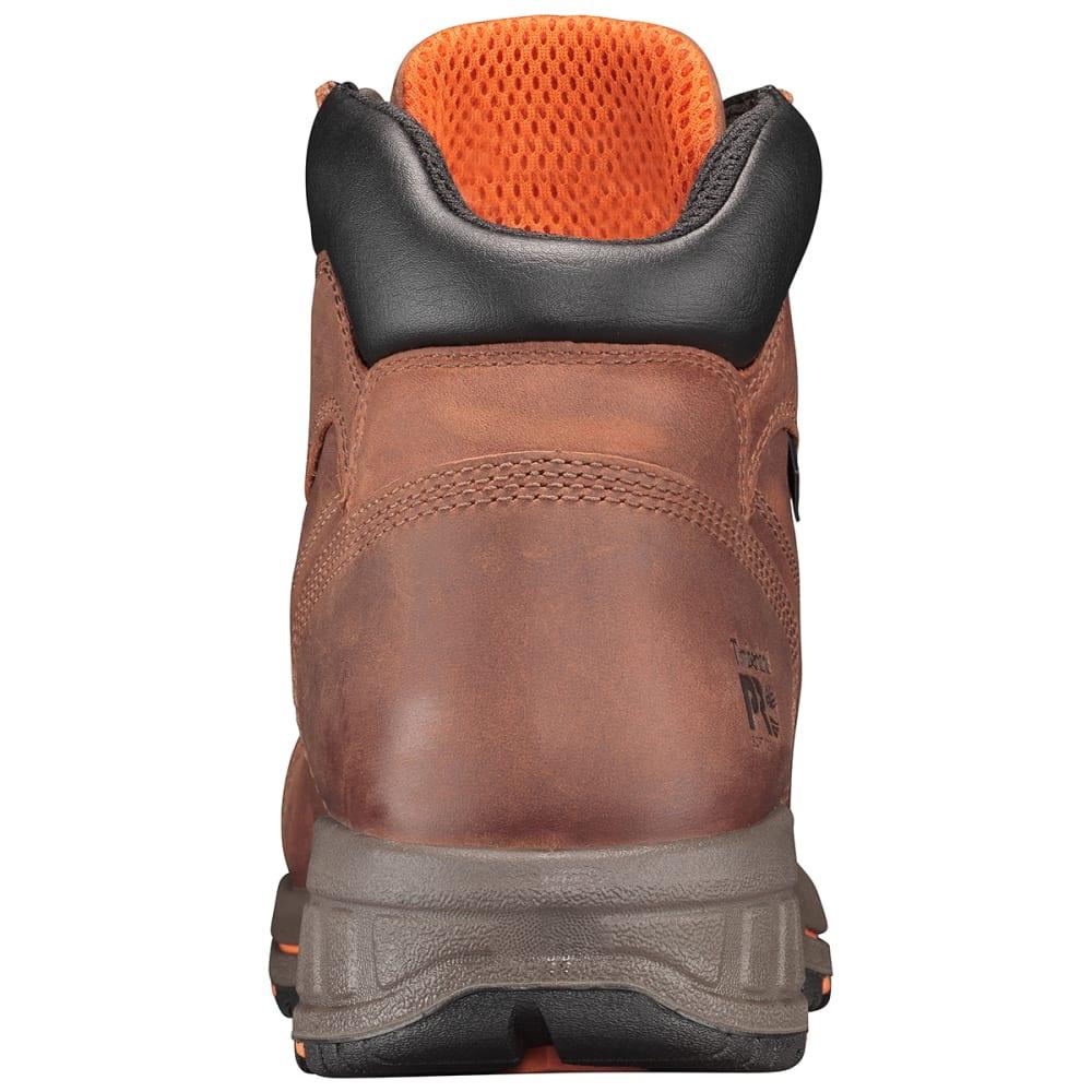 TIMBERLAND PRO Men's 6 in. Helix HD Waterproof Soft Toe Work Boots - 214 DIST RED BRN
