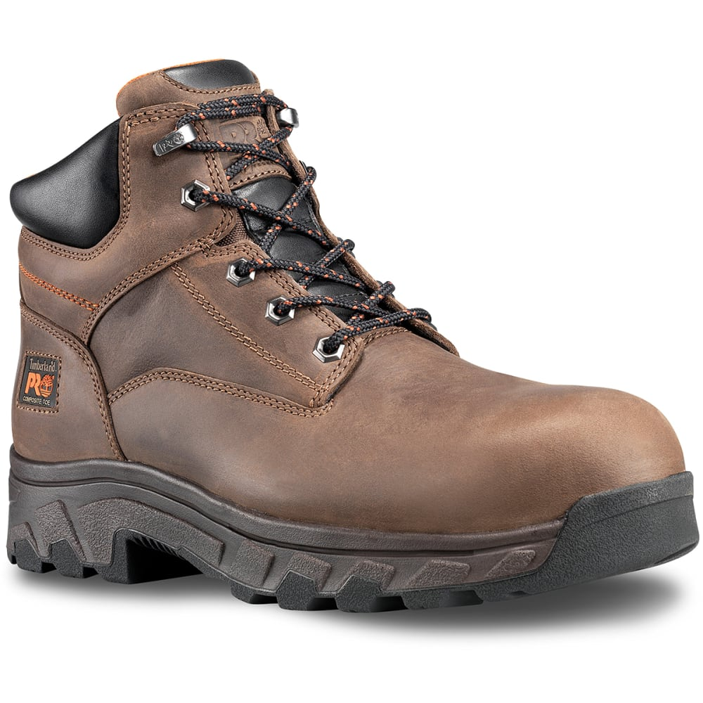 TIMBERLAND PRO Men's 6 in. Workstead Composite Toe Work Boots - 214 DARK BROWN