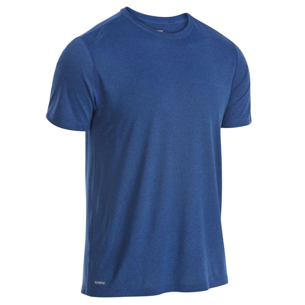 EMS Men's Techwick Essentials Short-Sleeve Shirt - ESTATE BLUE/GLXY BL
