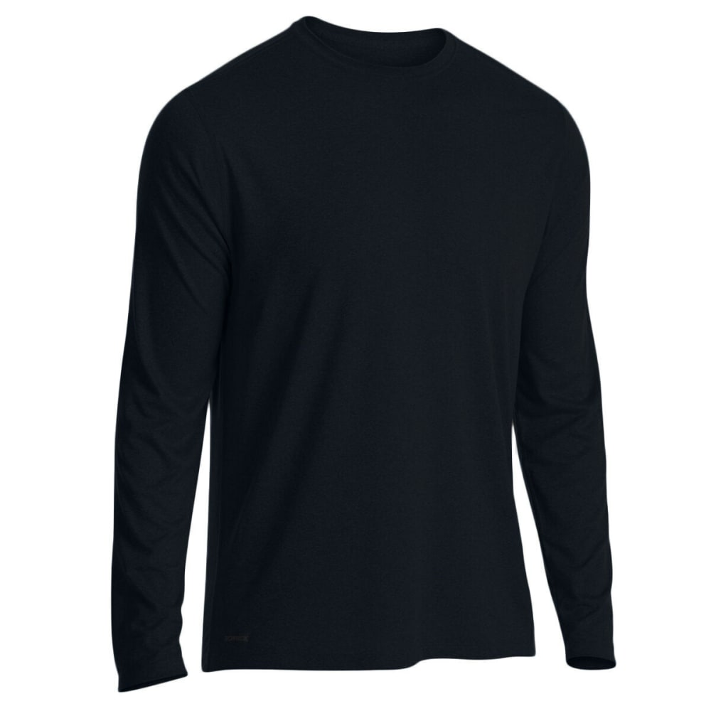 EMS Men's Techwick Essentials Long-Sleeve Shirt - BLACK
