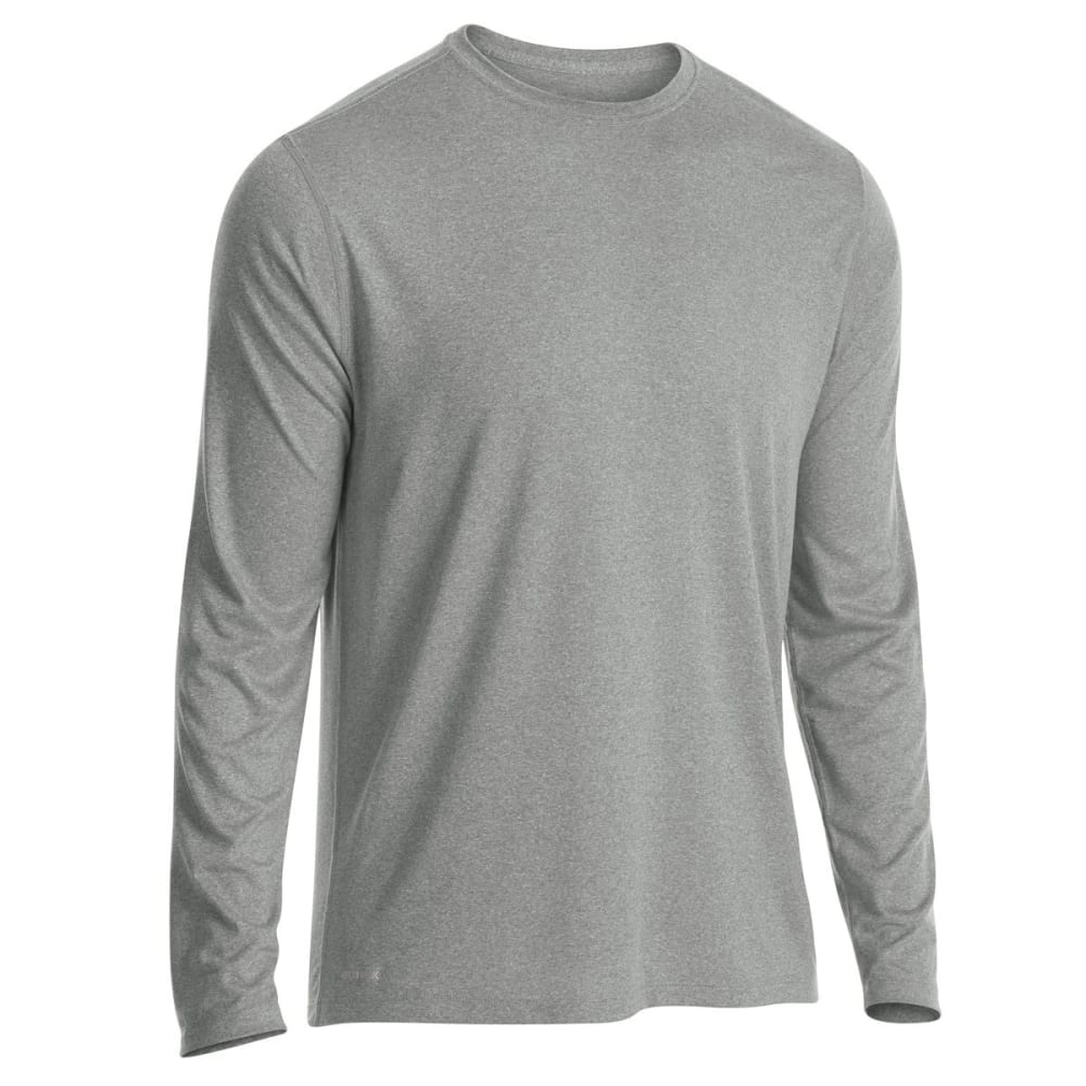 EMS Men's Techwick Essentials Long-Sleeve Shirt - NEUTRAL GREY HTR