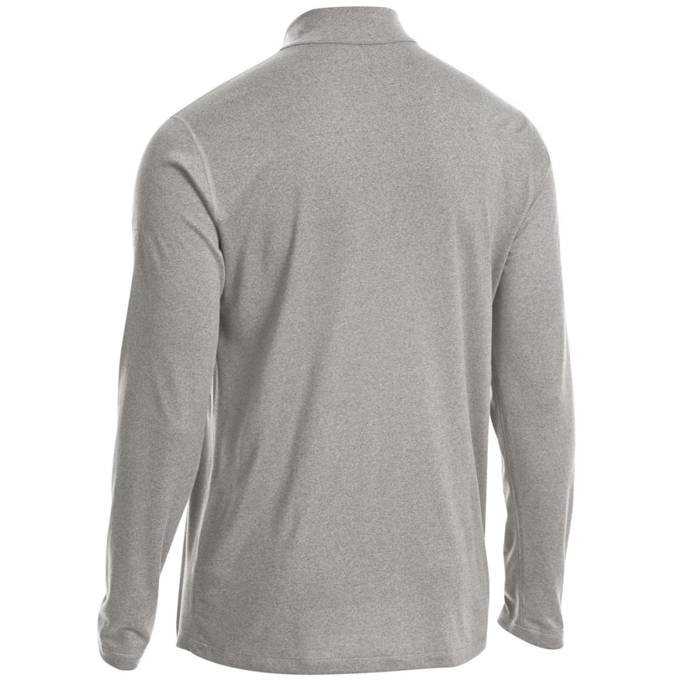 EMS Men's Techwick Essentials 1/4 Zip Pullover - NEUTRAL GREY HTR