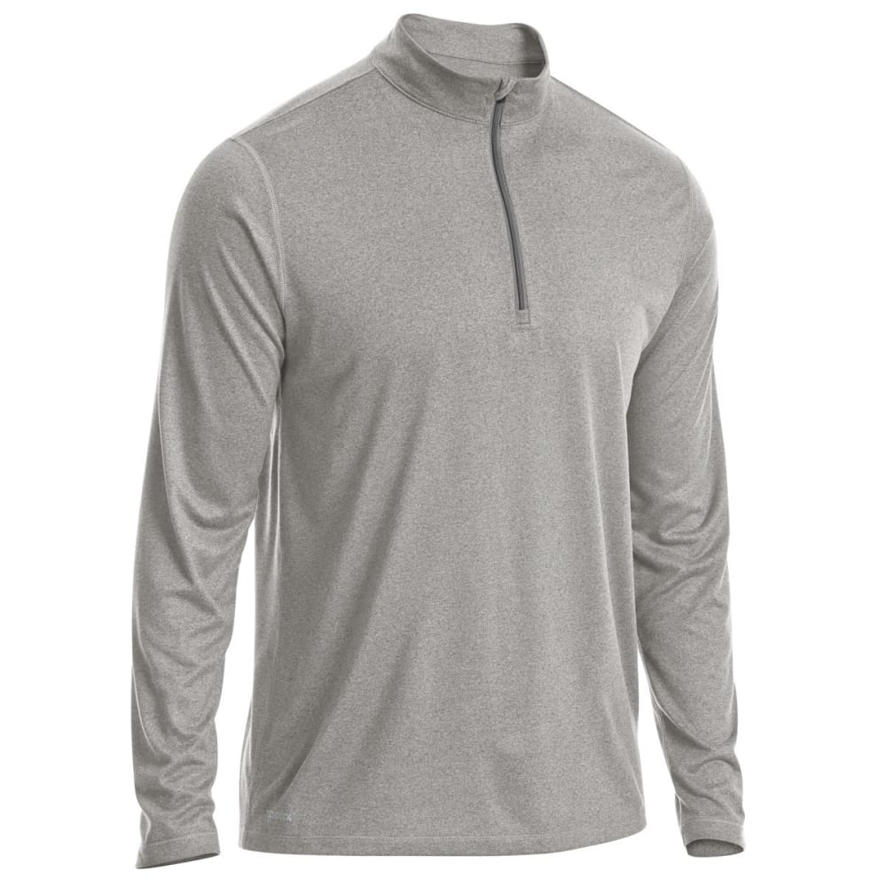 EMS Men's Techwick Essentials 1/4 Zip Pullover - NEUTRAL GREY HTR