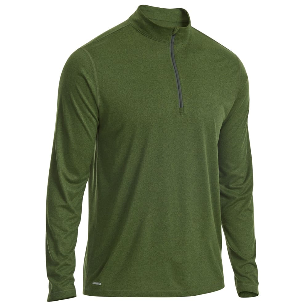 EMS® Men's Techwick® Essentials ¼-Zip Pullover - RIFLE GREEN/TWSTLIME