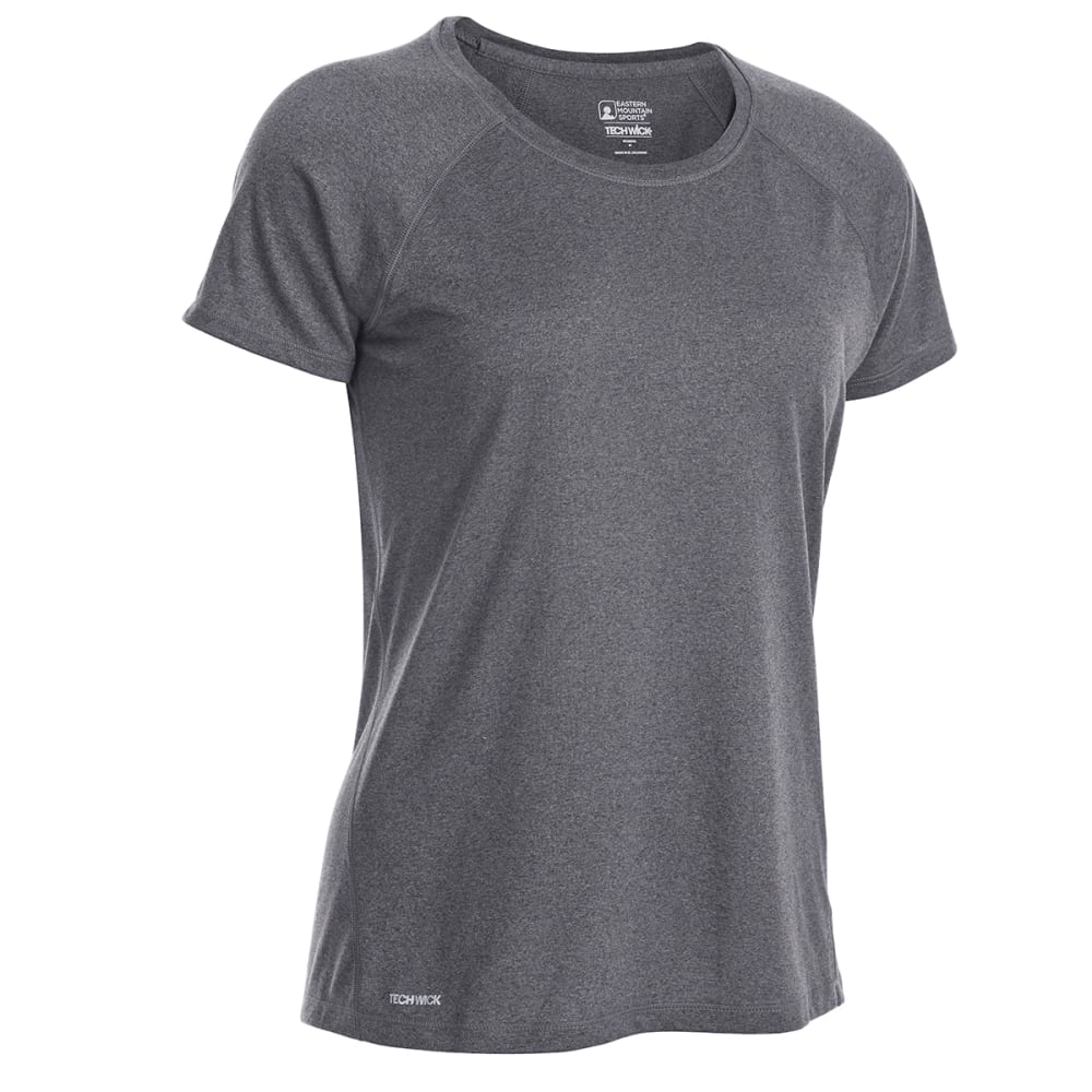 EMS Women's Techwick Essence Crew Short-Sleeve Shirt - PHANTOM HTR