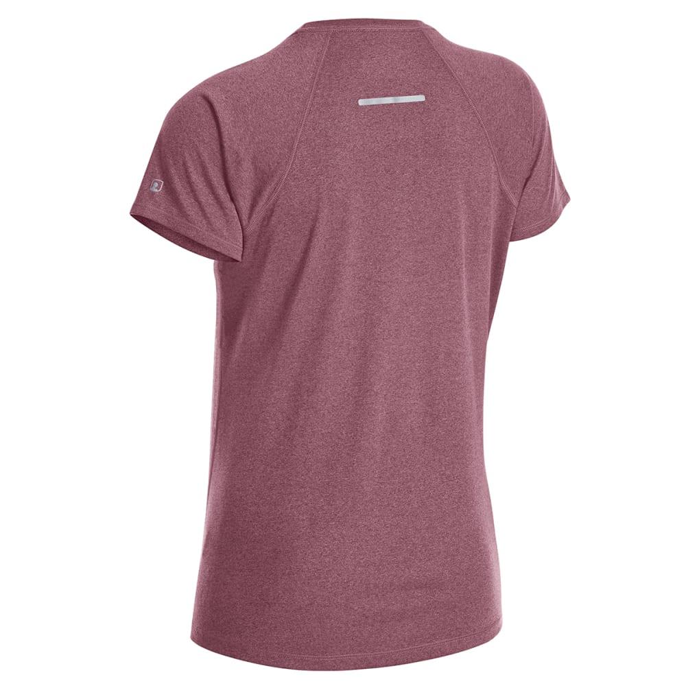 EMS Women's Techwick Essence Crew Short-Sleeve Shirt - RED PLUM HTR