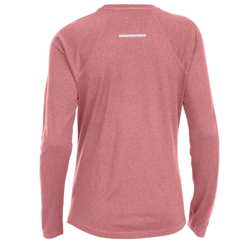 EMS Women's Techwick Essence Crew Long-Sleeve Shirt - RED PLUM HTR