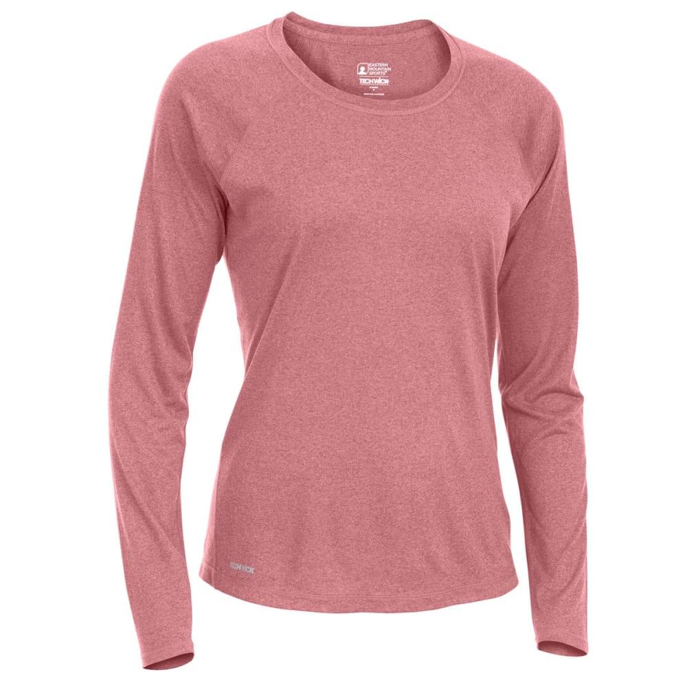 EMS Women's Techwick Essence Crew Long-Sleeve Shirt - RED PLUM HTR