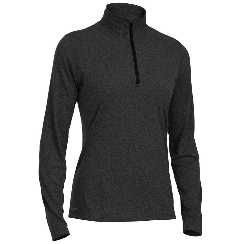 EMS Women's Techwick Essentials 1/4 Zip Pullover - BLACK