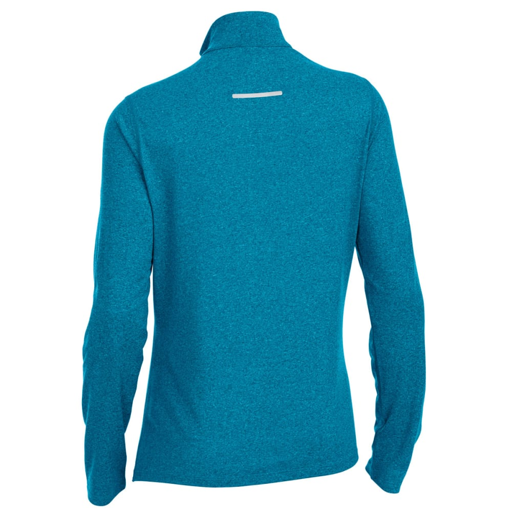 EMS Women's Techwick Essence 1/4 Zip - DEEP LAGOON/TAH HTR