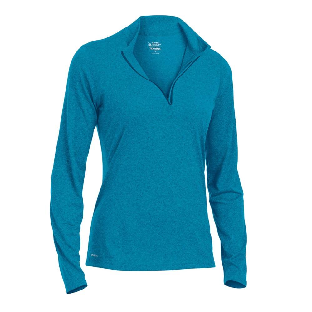 EMS Women's Techwick Essence 1/4-Zip Pullover - DEEP LAGOON/TAH HTR