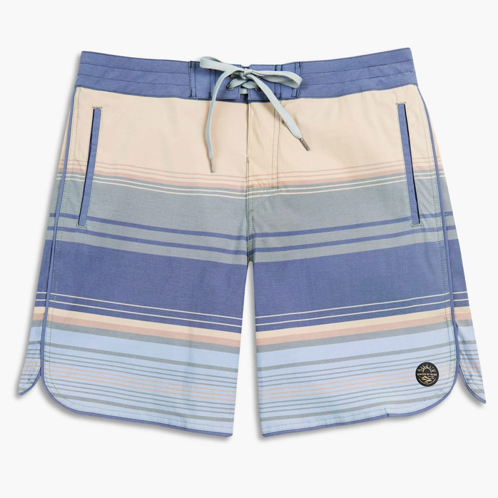 UNITED BY BLUE Men's Seabed Scallop Boardshorts - OLIVE-43