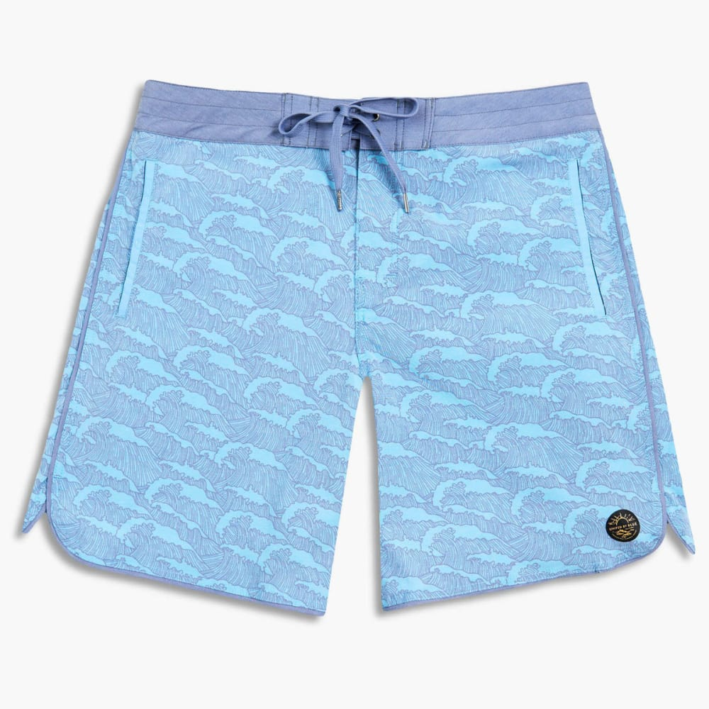 UNITED BY BLUE Men's Breakers Scallop Boardshorts - TEAL-37