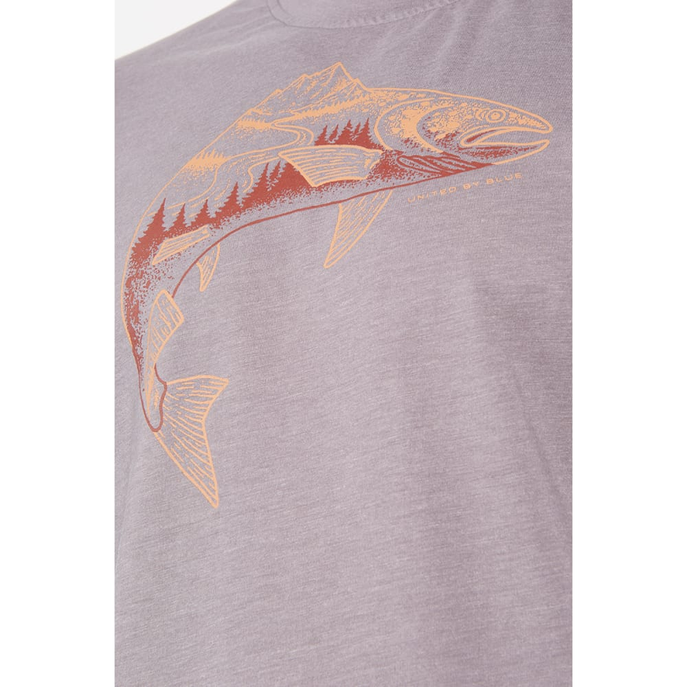 UNITED BY BLUE Men's Upstream Short-Sleeve Tee - GREY-29