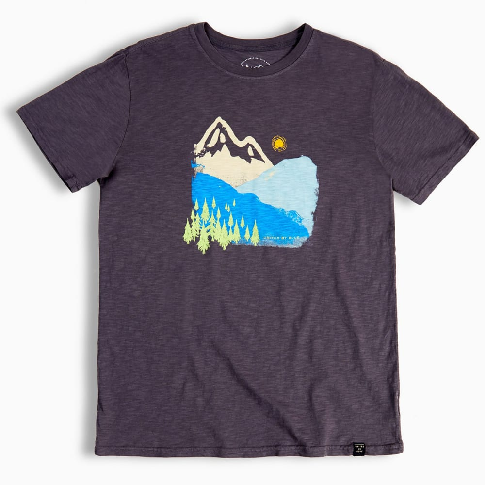 UNITED BY BLUE Men's Mountain Ink Short-Sleeve Tee - CHARCOAL-29