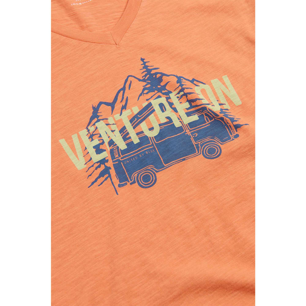 UNITED BY BLUE Women's Venture On V-Neck Tee - MELON-71