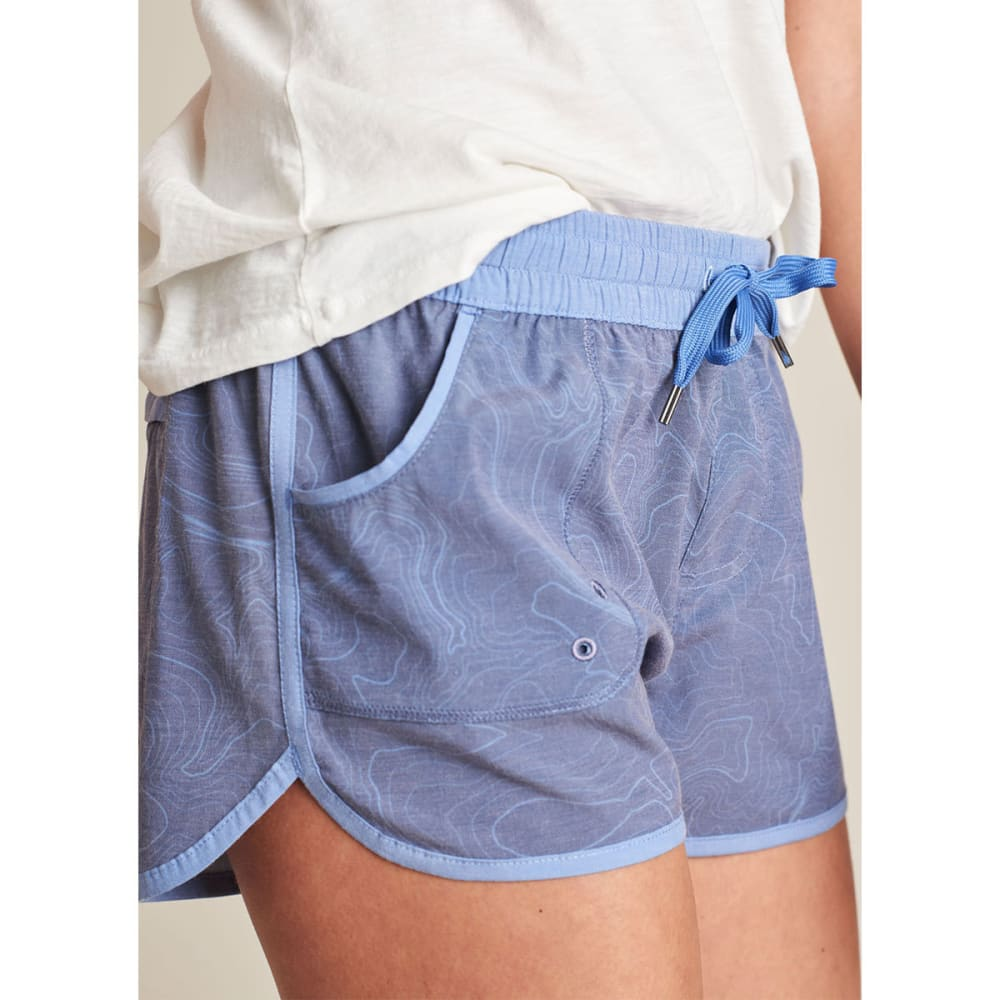 UNITED BY BLUE Women's Topography Boardshorts - NAVY-36