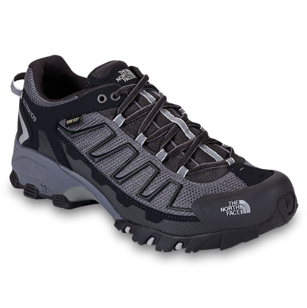 THE NORTH FACE Men's Ultra 109 Gore-Tex Waterproof Trail Running Shoes, Wide - BLACK/DK SHADOW GRY