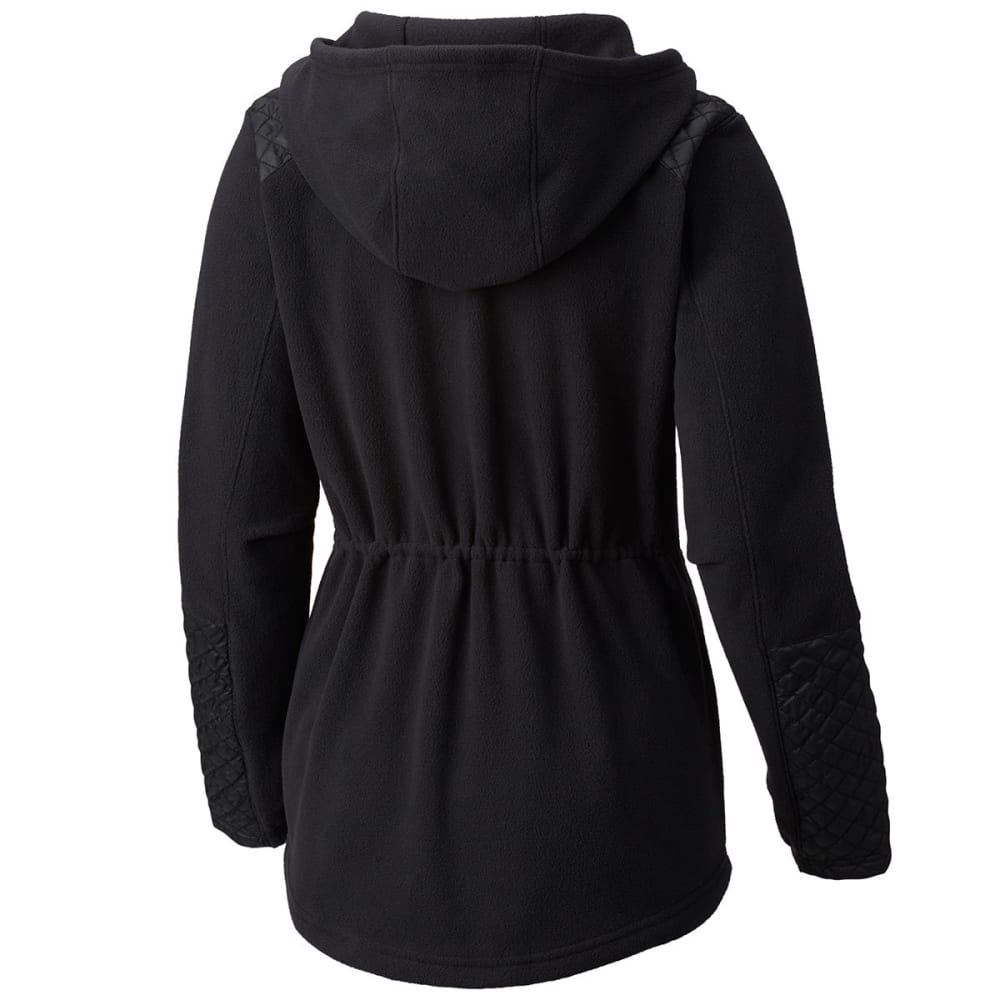 COLUMBIA Women's Warm-Up Hooded Fleece Jacket - 010-BLACK