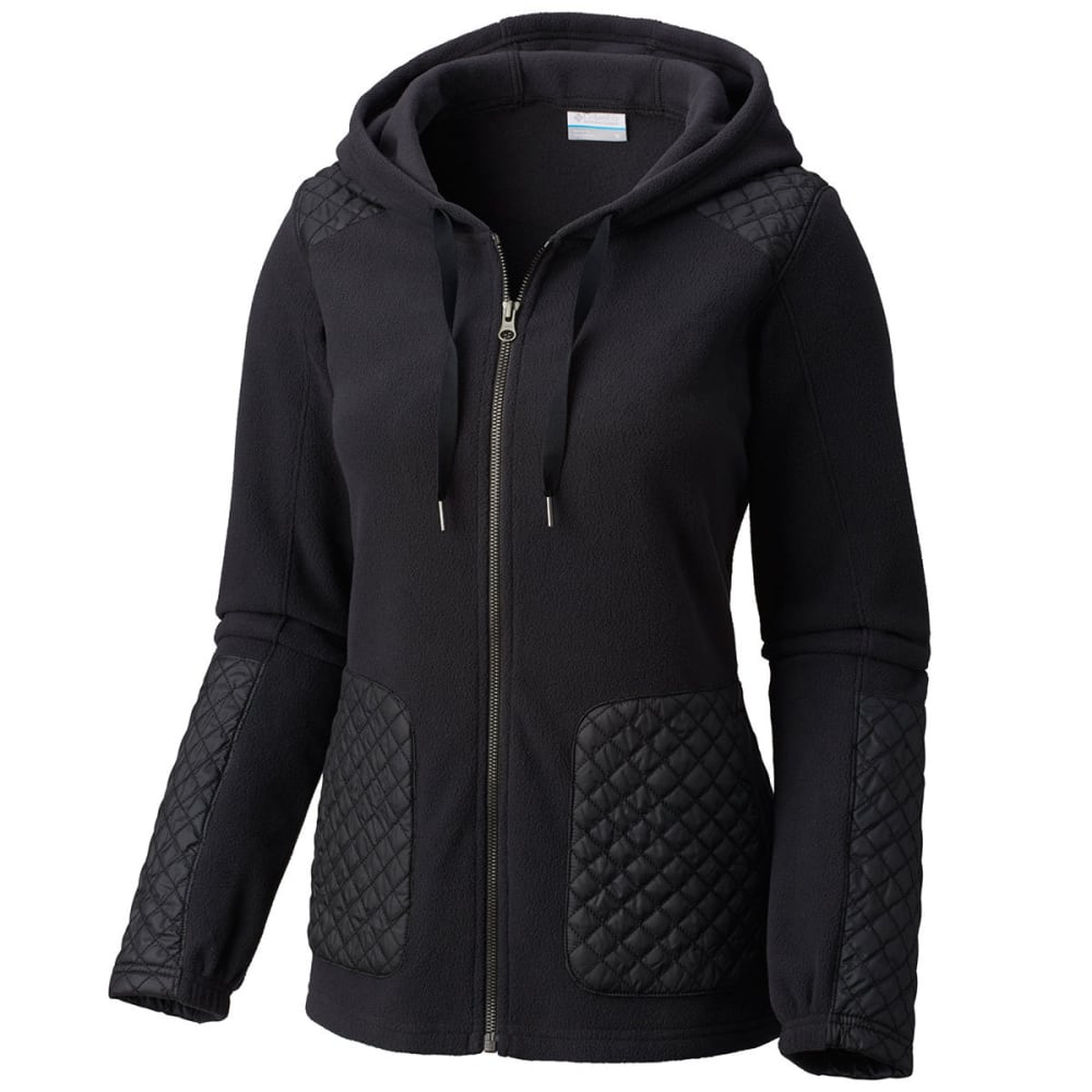 COLUMBIA Women's Warm-Up Hooded Fleece Jacket - 010-BLACK