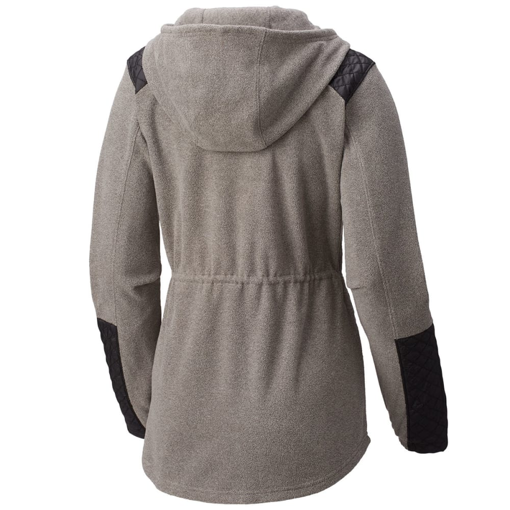 COLUMBIA Women's Warm-Up Hooded Fleece Jacket - 030-CHARCOAL HTHR