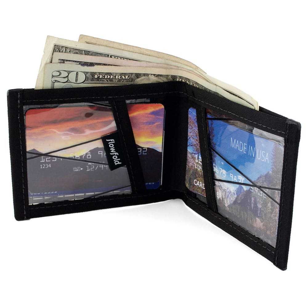 FLOWFOLD Sailcloth Vanguard – Billfold Wallet - BLACK PEARL