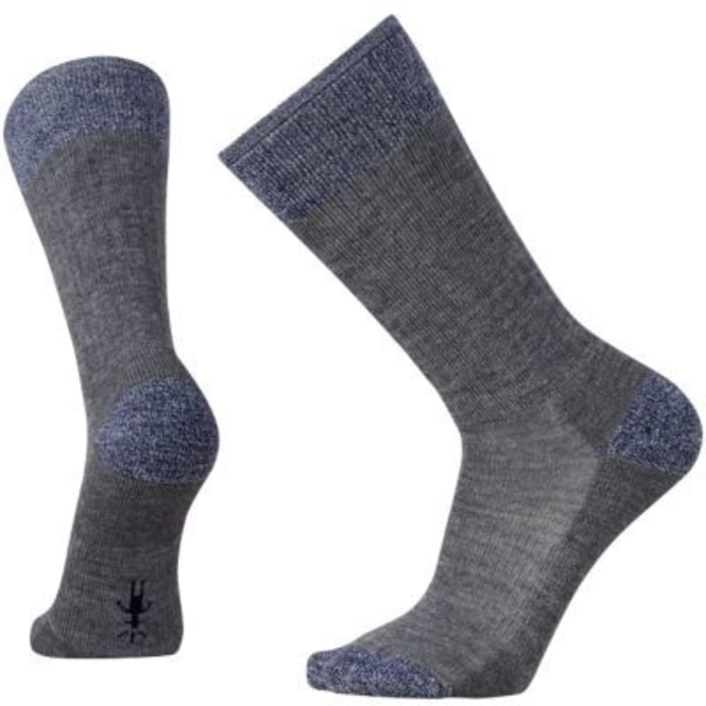 SMARTWOOL Men's Heathered Hiker Crew Socks - MED GREY  052