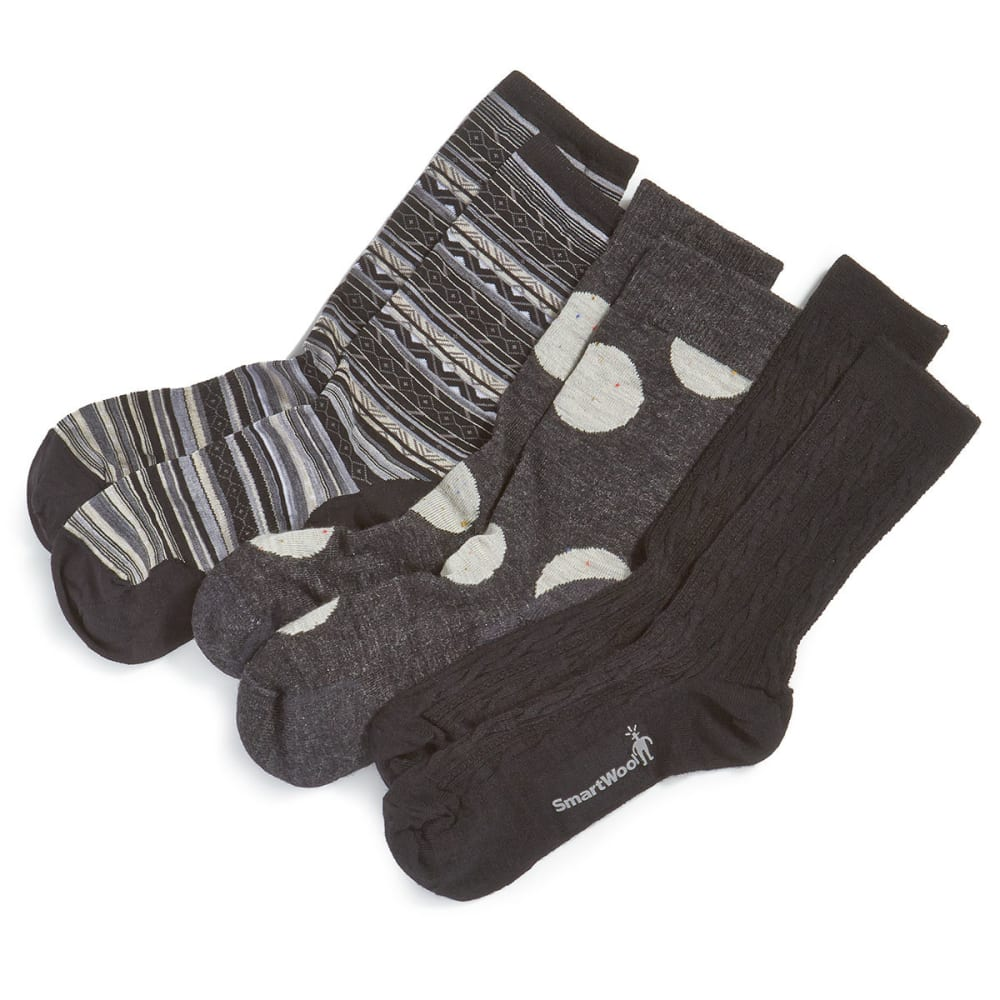 SMARTWOOL Women's Trio Sock Set - BLACK