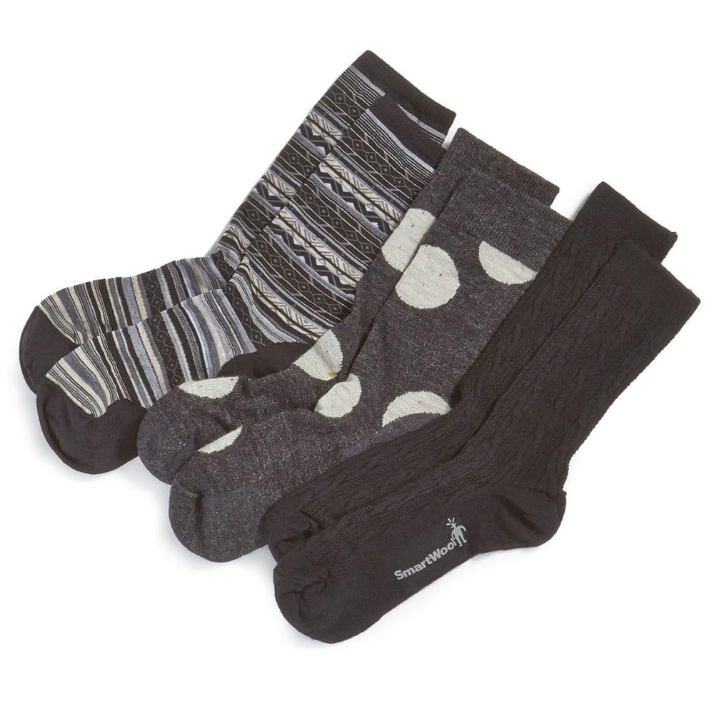 SMARTWOOL Women's Trio Sock Set - BLACK