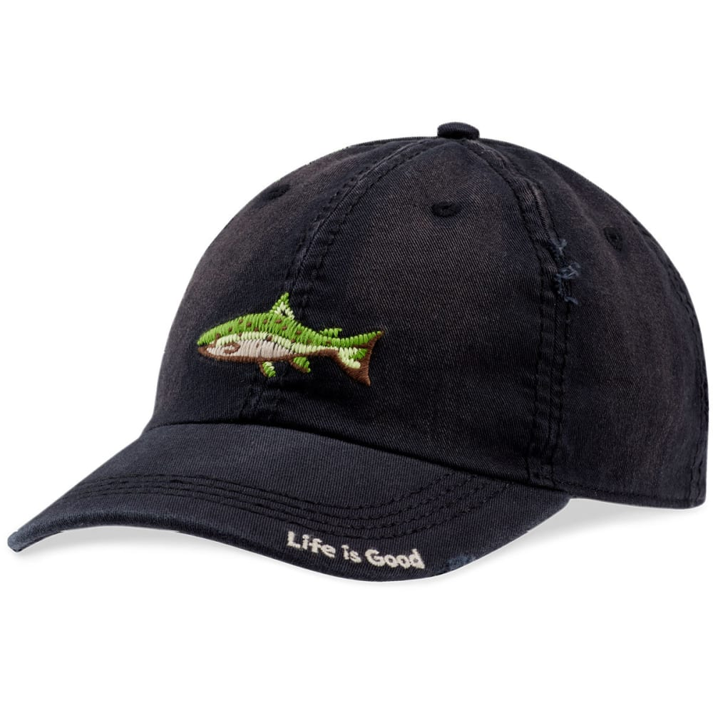 LIFE IS GOOD Men's Fish Stitch Sunwashed Chill Cap - NIGHT BLACK
