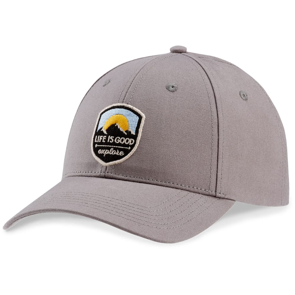 LIFE IS GOOD Men's Explore Shield High Rise Chill Cap - SLATE GREY