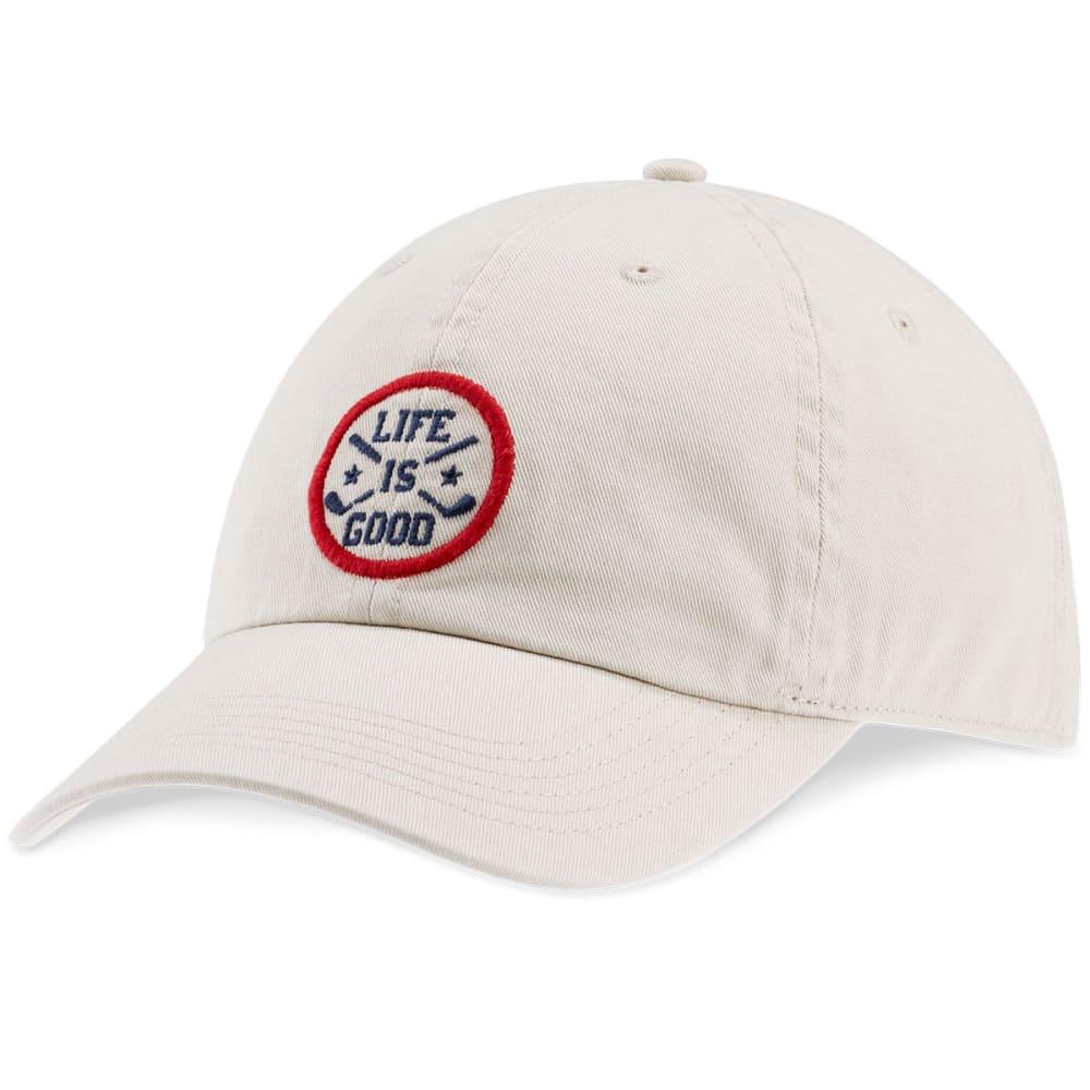 LIFE IS GOOD Men's LIG Sphere Golf Hat - BONE