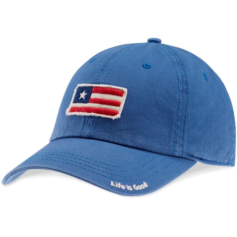 LIFE IS GOOD Men's Flag Tattered Chill Cap - VINTAGE BLUE