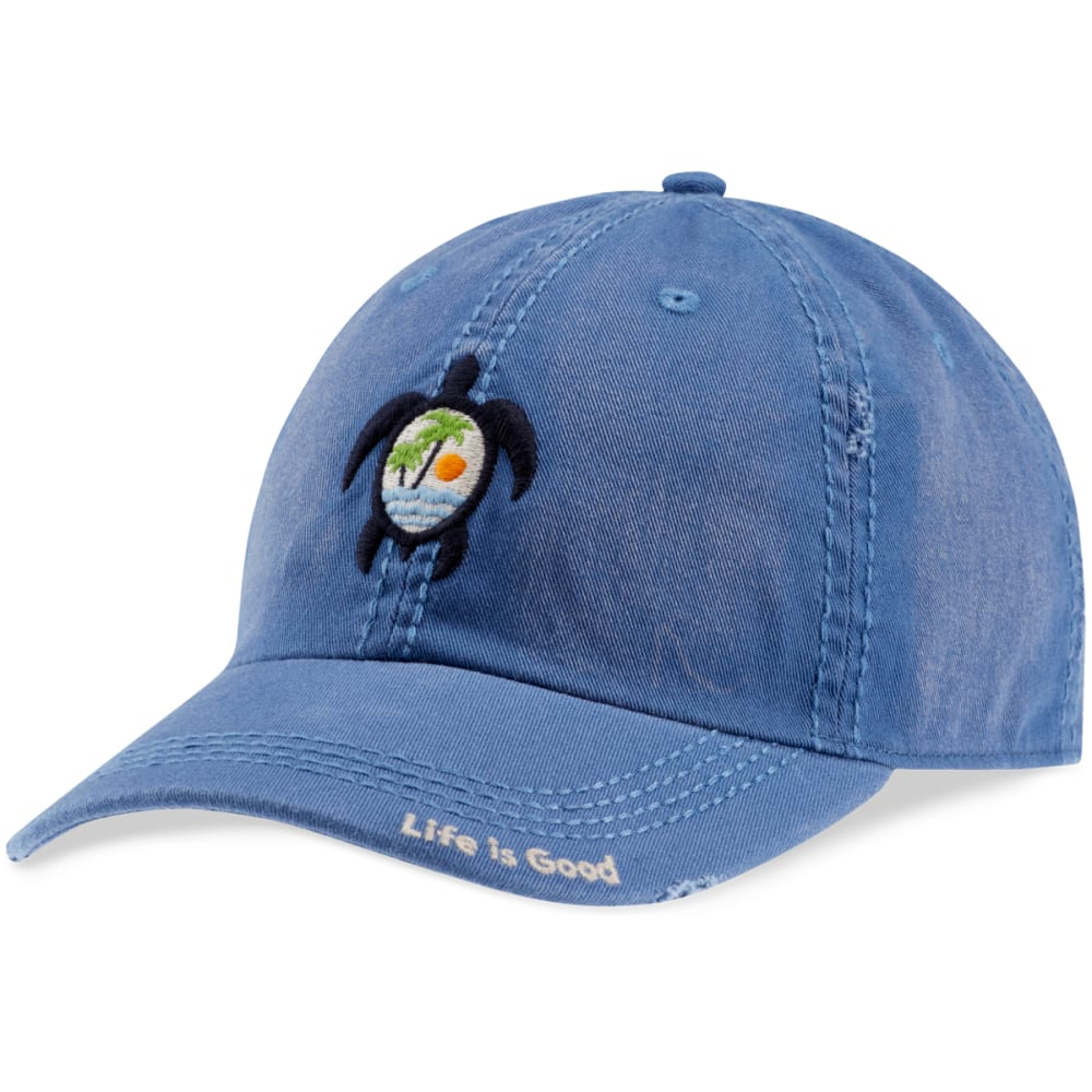 LIFE IS GOOD Women's Sea Turtle Scene Sunwashed Chill Cap - VINTAGE BLUE