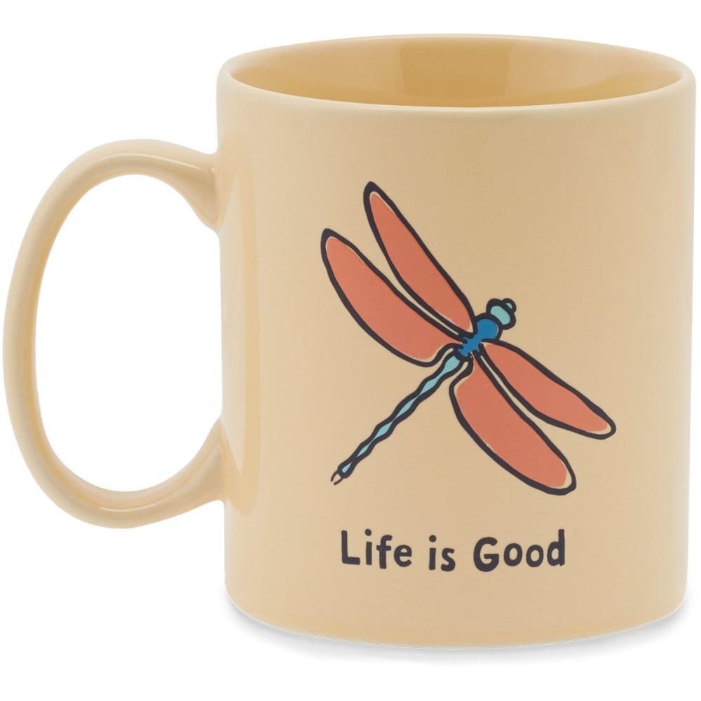 LIFE IS GOOD Dragonfly Jakes Mug - HAPPY YELLOW