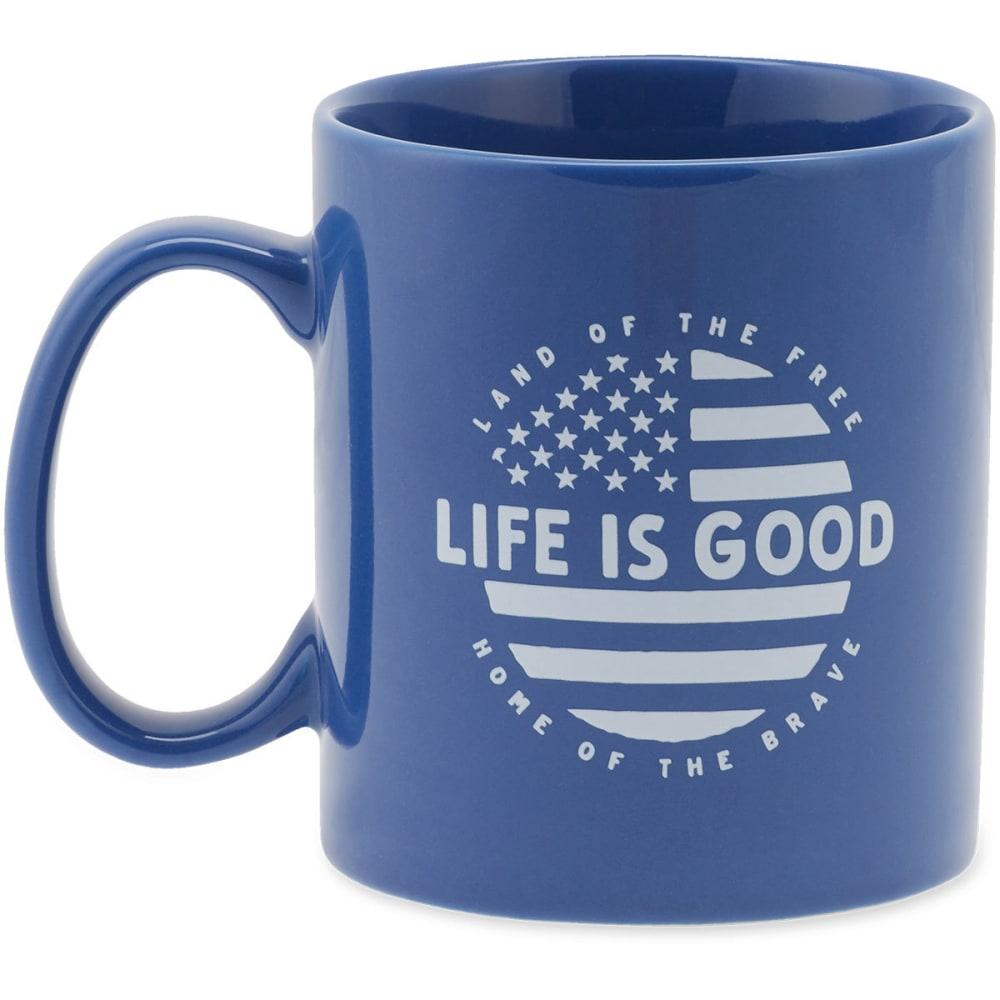 LIFE IS GOOD Circle Flag Jakes Mug - DARKEST NAVY