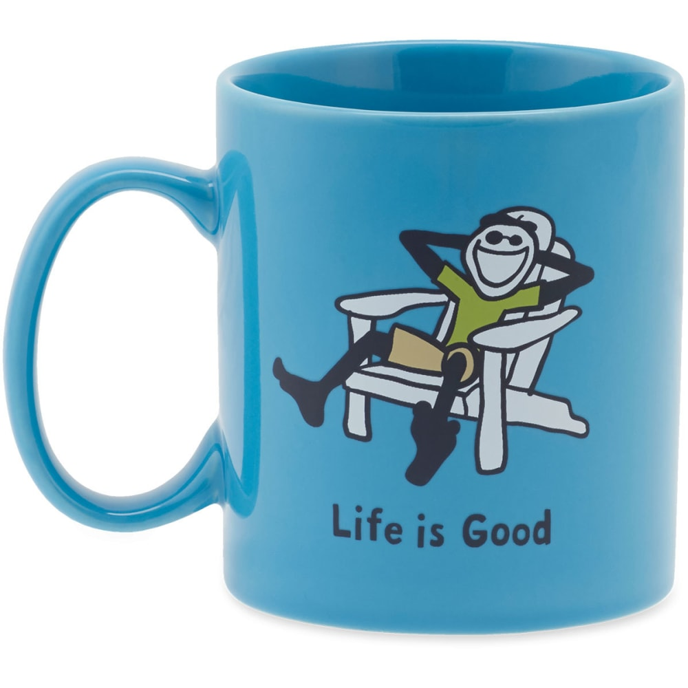 LIFE IS GOOD Adirondack Jakes Mug - POWDER BLUE