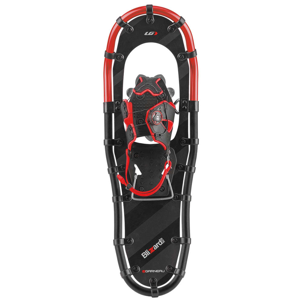 LOUIS GARNEAU Blizzard II Snowshoes, Size 1036 - BLACK/GRAY/RED