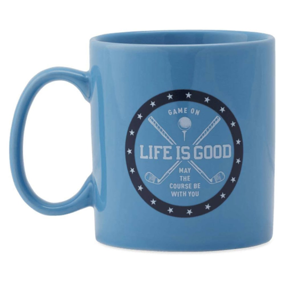 LIFE IS GOOD Golf Game On Jake's Mug - POWEDER BLUE