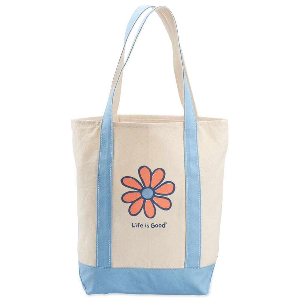 LIFE IS GOOD Daisy Carry-On Canvas Tote Bag - POWDER BLUE